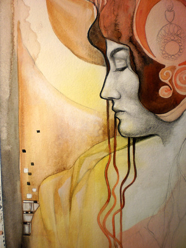 in progress: Artemis (detail)