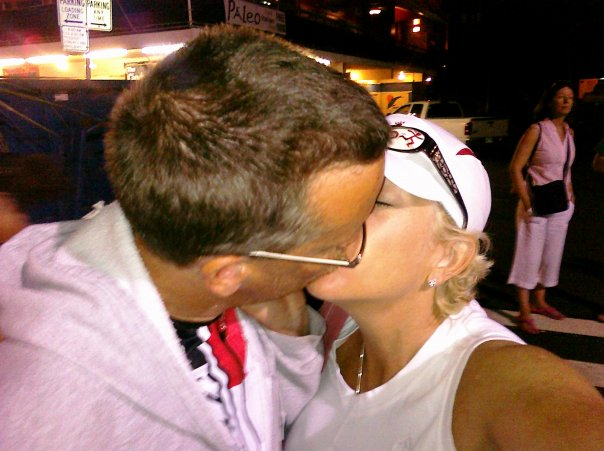 Kona Post Race Kiss