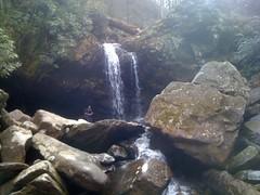 Kirk at Grotto Falls