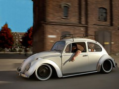 Stanced (dez&john3313) Tags: white classic look vw sedan bug volkswagen mod rat flat low beetle modified lowered dropped suede matte slammed stance type1 typei