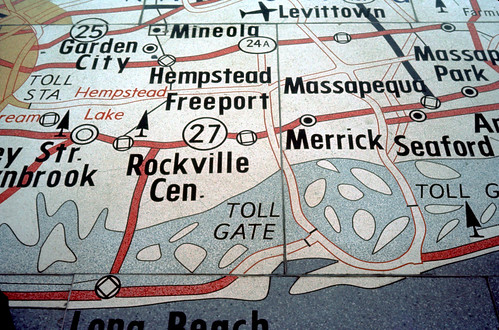 Portion of Long Island, Terrazzo Road Map, New York World's Fair
