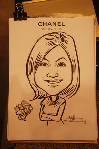 Caricature live sketching for Chanel Day 2 - 6
