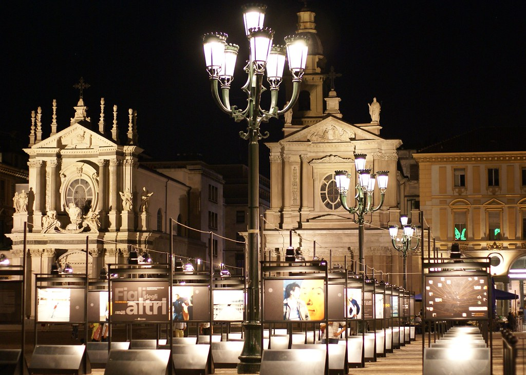 Torino, Piazza San Carlo, Chiesa di Santa Cristina und Chiesa di San Carlo Borromeo (St. Christina Church and St. Charles Borromeo Church)