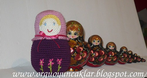 crochet matryoshka doll by you.