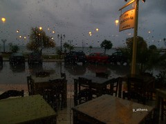 Rain (g_athens [swaping]) Tags: light sea rain night athens greece nea makri         sesoula