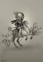 CABALLERO (laprisamata) Tags: collage skull caballero calavera equestre laprisamata