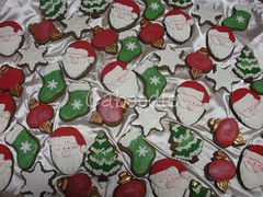 rockin around the christmas tree (The Whole Cake and Caboodle ( lisa )) Tags: santa christmas xmas red newzealand white tree green cookies cookie ornament stocking whangarei caboodle thewholecakeandcaboodle
