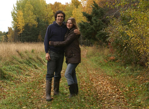 Cameron and Laura-Jane in Whimfield autumn lane