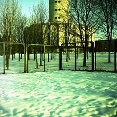 ... (mentitore) Tags: snow tower tv xpro crossprocessing kiev lithuania vilnius 120mm wilno litwa