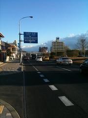 稲毛浅間神社の駐車場渋滞はこの辺から。