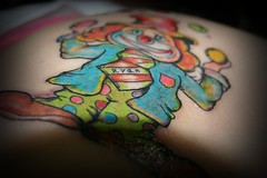 clown tattoo (amazing Tattoo) Tags: tattoo  suntattoo   tattoostar tattoosun