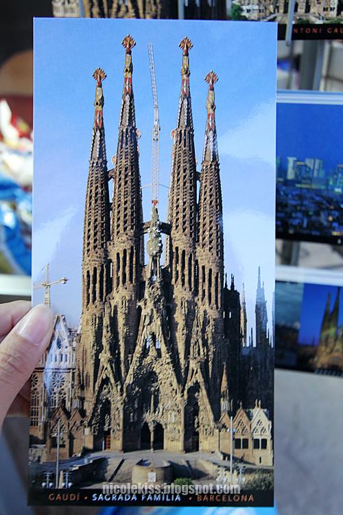 postcard of Sagrada Familia