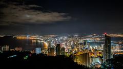 Night Skyline (joaquinain) Tags: nightly night nocturna skyline panorámica benidorm edificios buildings olympus omd em1 voigtlander largaexposición longexposures