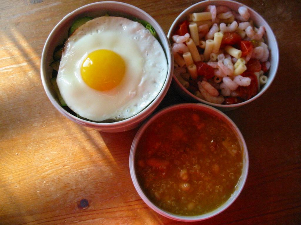 Cyclopean Fried Egg Bento, 3 July 2009