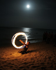 """Fire at the Moon"" (MrClean1982) Tags: fire bravo fullmoon miamibeach drumcircle soe firedancer circleoffire"
