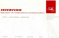 Interflug stationery, DDR 1980s (sludgegulper) Tags: logo ddr stationery papier gdr interflug schreibpapier letterheading