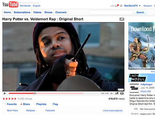 "Bill Cammack in Indy Mogul's ""Harry Potter vs. Voldemort Rap"" video"