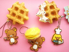 Kawaii San-x Rilakkuma Waffle & Macaroon Sweets Keychain Japan (Kawaii Japan) Tags: bear food white cute animals yellow cake japan asian japanese cafe keychain chocolate character fake charm rubber chick mascot collection macaroon kawaii strap faux sweets accessories collectible choco waffle fakefood phonecharm rilakkuma sanx macarons ballchain bagcharm cellphonecharm fauxfood cawaii kiiroitori kawaiishopping kawaiijapan rilakkumacafe kawaiishop kawaiishopjapan