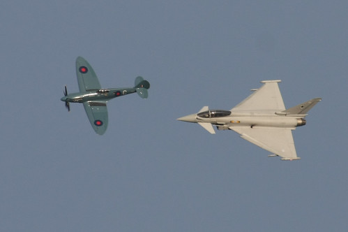 Spitfire and Typhoon at RIAT 2009