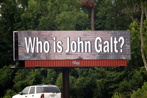 Who is john galt billboard on i95 south