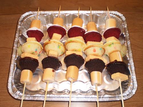 Cupcake kebabs