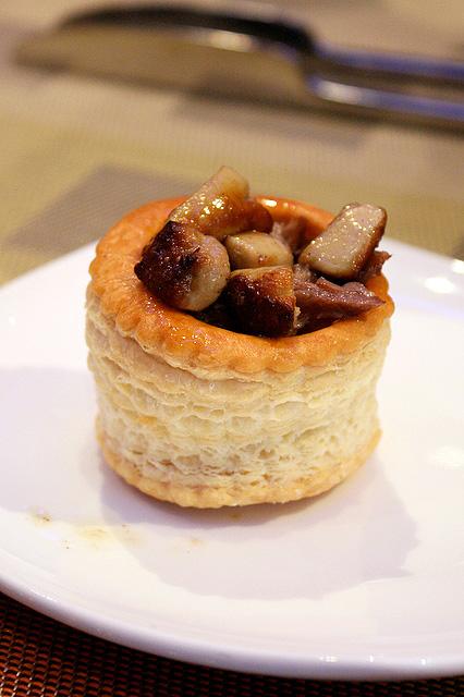 Foie gras vol au vent