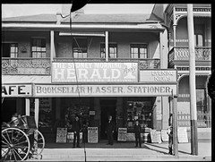 Henry Asser, Bookseller and Stationer 19 Hunter Street, Newcastle, NSW, 1 September 1897 (Cultural Collections, University of Newcastle) Tags: shop newcastle store australia nsw bookseller 1897 asser hunterstreet hunterst stationer hasser ralphsnowball snowballcollection ralphsnowballcollection asgn0660b28 newcastleregionnswhistorypictorialworks photographynewsouthwalesnewcastle