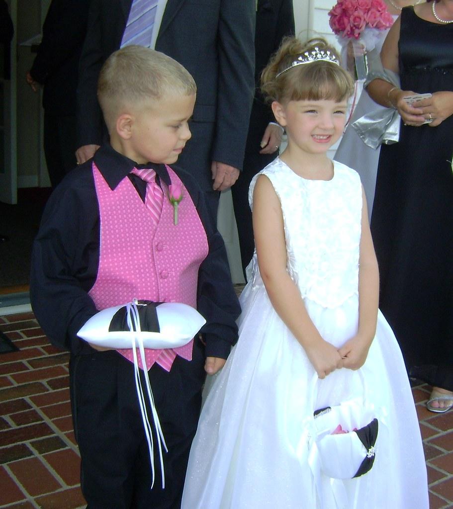 Ezra Hutchens and Rebekah Wilson Ring Bearer and Flower Girl