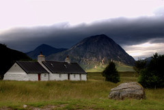 The Back Garden... (Nicolas Valentin) Tags: sky house mountain nature stone landscape scotland scenery cottage blackrock hillwalking ecosse matchpointwinner