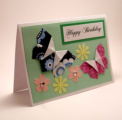 Origami Butterfly Birthday Card