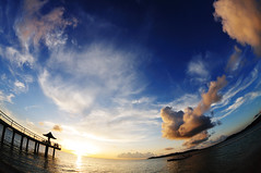 Fusaki Sun set_25 (ajari) Tags: blue sunset sea summer sky orange cloud beach japan landscape nikon 日本 okinawa 夏 雲 夕日 海 空 青 風景 ishigaki オレンジ 石垣島 d300 ビーチ yaeyama 八重山 fusaki 八重山諸島 supershot atx107dxfisheye1017mmf3545 フサキ