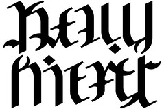 """Kelly"" & ""Kiefer"" Ambigram"