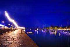 Quai du vieux port de Saint Quay (Kriss on flickr) Tags: sea mer france night port landscape boat nikon long exposure harbour bretagne bateaux bleu reflect myfavorites nuit reflets quai seaport lumires britany 1755 d300 saintquay 22410 saintquayportrieux afsnikkor1755mm128g