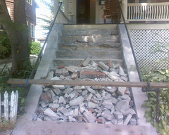 Oh hello demolished steps