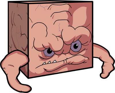 """TURTLES FOREVER"" - Krang papercraft model figure  [[ Courtesy of CUBEECRAFT  & 4kids ]]"