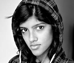 Attitude (Letha Jose) Tags: portrait blackandwhite face pose eyes attitude stare hood smirk angular confidence checks slk lethajose