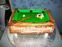 Billiards Table (Sugar Mama NYC) Tags: new york nyc green pool cake table cue designer treats michelle balls mama sugar desserts novelty billiards stick sculpted specialty fondant duquesnay sugarmamatreatscom