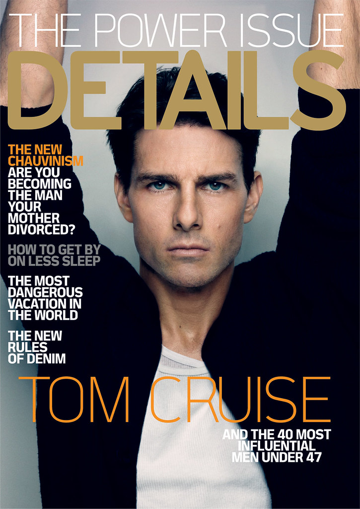 Tom Cruise Graces the cover of DETAILS magazine's Power Issue - December 2008