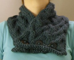 waves cabled scarf