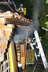Feuer an Gebäude Forststraße 29.09.09