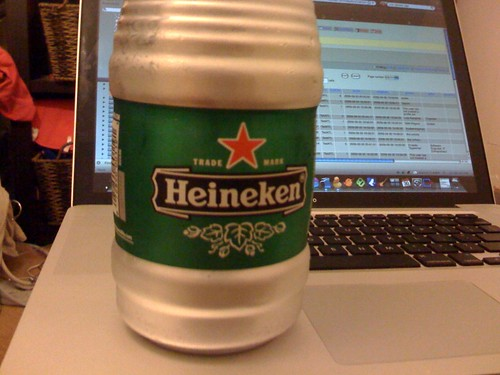 putting my lips on an ice cold heine