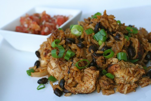 Red Chile Chicken and Rice with Black Beans | Annie's Eats