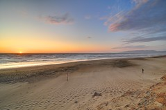 While it is well enough to leave footprints on the sands of time, it is even more important to make sure they point in a commendable direction. (hanson_s_lee) Tags: sanfrancisco sunset clouds sand nikon footprints oceanbeach d90 tokina1116mmf28