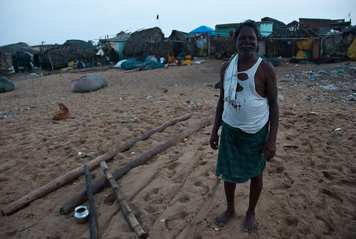 Old fisherman in Puri