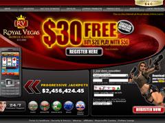 Royal Vegas Mobile Casino Lobby