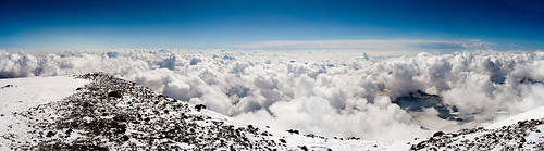 Panorama from top of Elbrus mountain