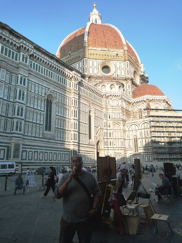 With a gelato outside of Florence's Duomo