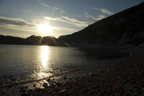 Sunset Beach at Lulworth Cove - Copyright R.Weal 2009