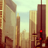 (aquieu) Tags: chicago blurry downtown skyscrapers loop redlight anditwascool wewererunningthroughtraffic