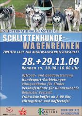 Schlittenhunde Wagenrennen Rastede 2009